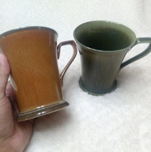 Set of 2 Prairie By Interiors mug Green and Red 11